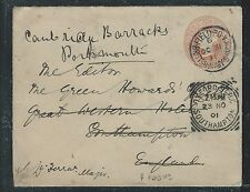 SOUTH AFRICA BOER WAR (PP2909B)  GB QV PSE 1901 FIELD PO TO ENGLAND