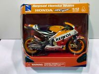 NEW NEWRAY 1:12 DIECAST WITH PLASTIC MODEL HONDA REPSOL RCV213 MARC MARQUEZ