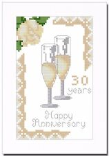 PEARL (30) WEDDING ANNIVERSARY CROSS STITCH CARD KIT