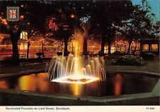 BR83087 illuminated fountain on lord street southport  uk