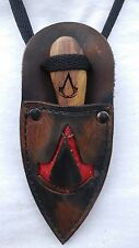 Custom Hand made Patch knife Neck Boot Knife ASSASSIN'S CREED sheath