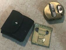 VTG A.W. Faber Mentor Germany 50/58 Brass Pencil Sharpener with case and blades