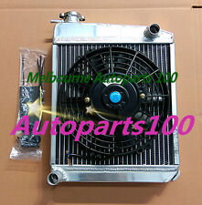 50mm ALLOY ALUMINUM RADIATOR & Fan for AUSTIN ROVER MINI 1275 GT 1959-1997 59-57