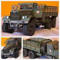 1:25 USSR Soviet Union Kraz-255B Military Truck DIY Handmake Paper Model Kit Toy