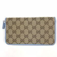 Gucci GG Canvas Zip Around Wallet, #363423, NWT