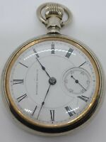 Antique Working 1886 COLUMBUS Victorian Gents 11J Silver Pocket Watch 18s