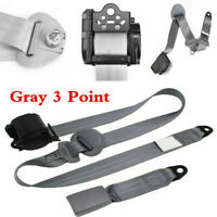 Universal Gray 3 Point Car Seat Safety Belt Strap Adjustable Car Accessories Top
