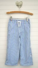Boys JANIE & JACK Sz 2T Blue Striped Roll Up Deck Pants Cropped Manta Ray Reef