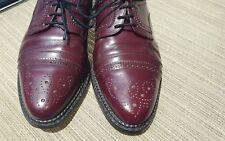Hugo Boss Mens Dress Shoes Oxford Burgundy Leather Cap Toe Derby Size Eu 40 US 7