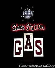 Vintage Space Station Gas Sign, Steamboat Springs, Colorado - Giclee Photo Print