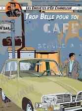 """""""Trop belle pour toi"""" dessin numérique. RENAULT R16 Style BD par JICEHER"""