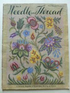 NEEDLE & THREAD (No. 9) 1950's  Magazine of Embroidery, Knitting & Crochet