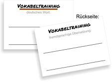 2.500 Karteikarten (€ 6 pro 1.000) DIN A8 Vokabeltraining Deutsch-Fremdsprache