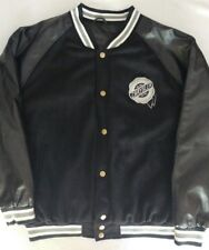 Chrysler Varsity Jacket Coat Letterman Style Black White Men's Size Large L