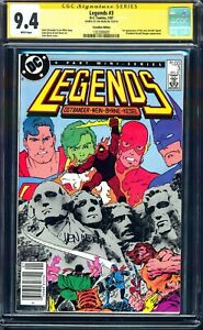 LEGENDS #3 $1 NEWSSTAND VARIANT CGC SS 9.4 NM 1/1987 1ST SUICIDE SQUAD CANADIAN