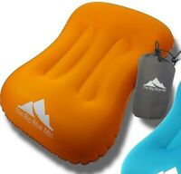 The Big Blue Mountain Camping Pillow Inflatable Backpacking Ultralight - Orange