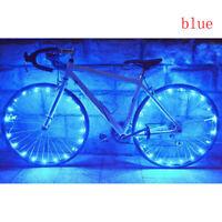 20 LED Bike Bicycle Cycling Rim Lights LED Wheel Spoke Light String Strip Lamp O