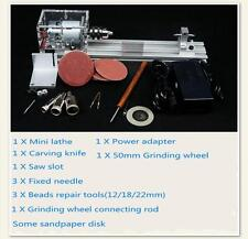 Mini Lathe Beads Polishing Cutting Machine DIY Table Saw Drill Woodworking Kit