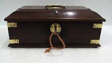Vintage Wooden Indian Handcrafted With 2 Lock - 4 Compartment Pen/Pencil Box