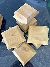 New listing 6 WOODEN POST CAPS 9.5x9cm For FENCE POSTS GREEN TREATED To PROTECT FROM RAIN