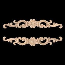 Furniture Applique Wood Carved Applique Frame Onlay Craft Door Bed Table Decor