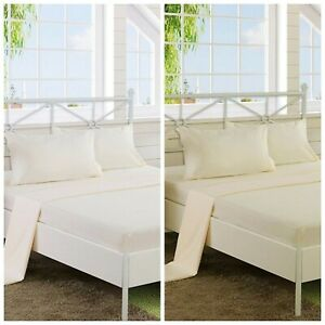 4PCS 100%COTTON THERMAL Flannelette Sheet set (Fitted,Flat,Pillow) BEDDING SET