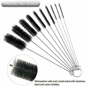 Handle Stainless Steel Soft Water Cup Bottle Brush Cleaning Tools Straw Cleaner