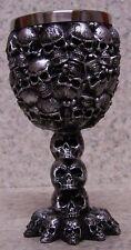 Wine Brandy Goblet Multiple Skulls Halloween 3 oz por NEW Stainless Steel Insert