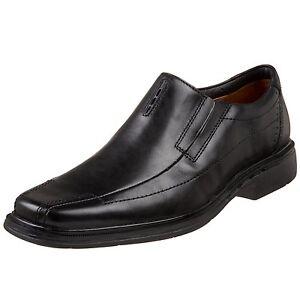 Clarks Men's 86090 Unstructured Un.Sheridan Black Leather Slip On Dress Shoe