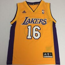 a453feace Adidas Los Angeles Lakers Pau Gasol NBA Basketball Jersey Youth Small 8