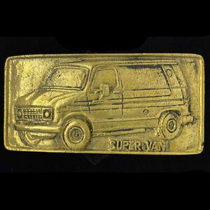 Dodge Chevy Van Corvair Work Band Hippie Gift 70s NOS Brass Vintage Belt Buckle