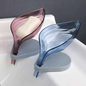 Leaf Shape Drainage Soap Box Storage Plate Tray Soap Holder Bathroom Supplies