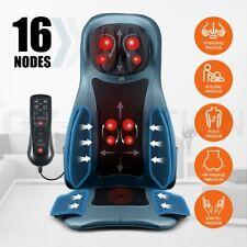 Full Body Shiatsu Massage Chair Seat Vibration Knead Heat Massager Cushion Blue
