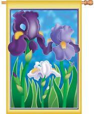 "New listing Enchanting Iris Flower House Flag Large 40"" x 28"""