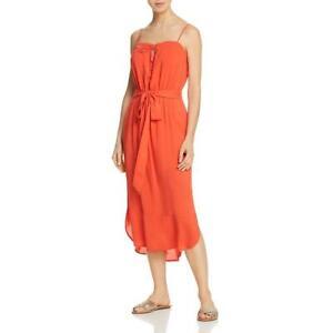ViX Paula Hermanny Womens Grace Orange Midi Dress Swim Cover-Up XS BHFO 2106