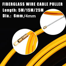 6mm/4mm 5-25M Fiberglass Wire Cable Rod Electrician Push Puller Duct Fish Tape
