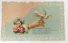 ANTIQUE PRINTED IN GERMANY POST CARD EARLY 20th CENTURY TEXTURED & EMBOSSED