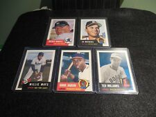 1991(1953)Topps Archives 500 HR Club. Aaron, Williams, Mantle, Mays & Mathews.