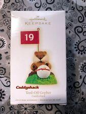 Hallmark Keepsake Caddyshack Teed-Off Gopher Christmas Ornament 2009