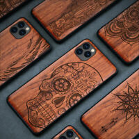 Luxury Natural Wooden Real Wood TPU Case Cover For iPhone 11 8 7 6 XS XR Max Pro