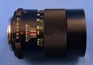 Vivitar 135mm 1:2.8 Auto Telephoto Lens for Minolta
