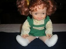 "Red Hair Doll w/Freckles 15"" tall (Vinyl Head & Hands)-Cloth Body"