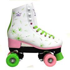 2018 Kingdom GB Venus Quad Roller Skates Disco Girls Womens Retro Derby UK Boots
