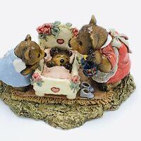 Wee Forest Folk Miniature Figurine Bears Just a Peek BB 6 1995 Annette Peterson