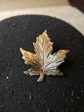 Large Sterling Silver Maple Leaf Brooch