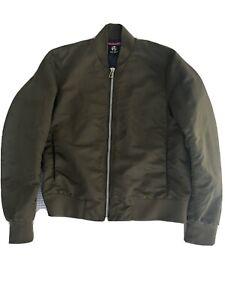 Paul Smith Khaki Green military Bomber Jacket Large