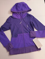 Lululemon Size 2 NWT Voyage Hoodie Power Purple French Terry Cotton Stretch