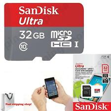 SANDISK Ultra 32GB Micro SD HC TF Memory Card Retail Package Class 10 C10 80M/s