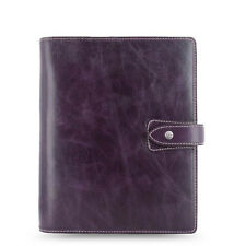 New Filofax A5 Size Malden Organiser Planner Diary Purple Leather -025851