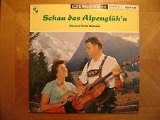 ELITE LP RECORD/ OTTO+ USCHI BIERSACK/ SCHAU DAS ALPENGLUH'N/ EX VINYL